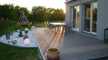 Terrasse sanieren in Naturstein
