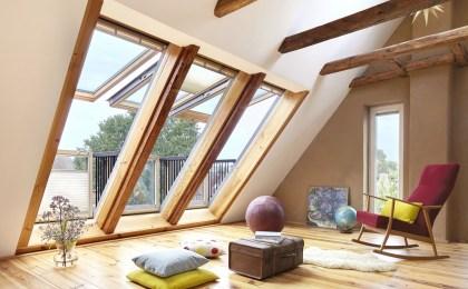 Großflächige Dachfenster