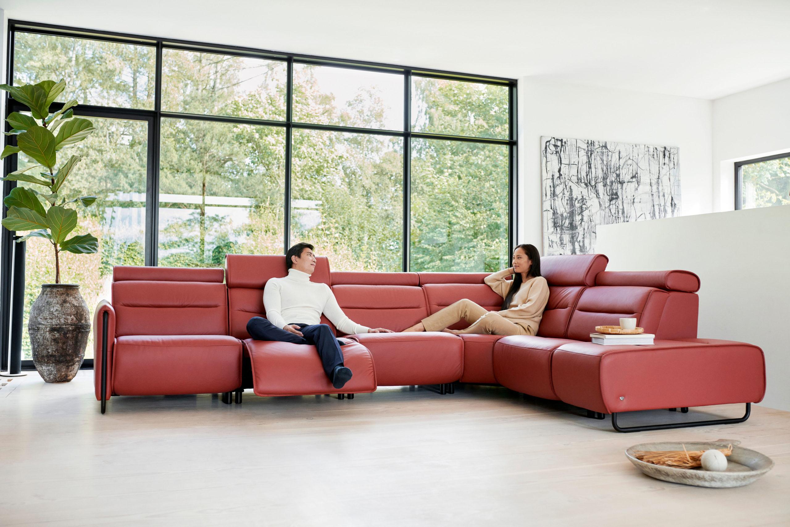 Hochwertige Sitzmöbel im Wohnzimmer
