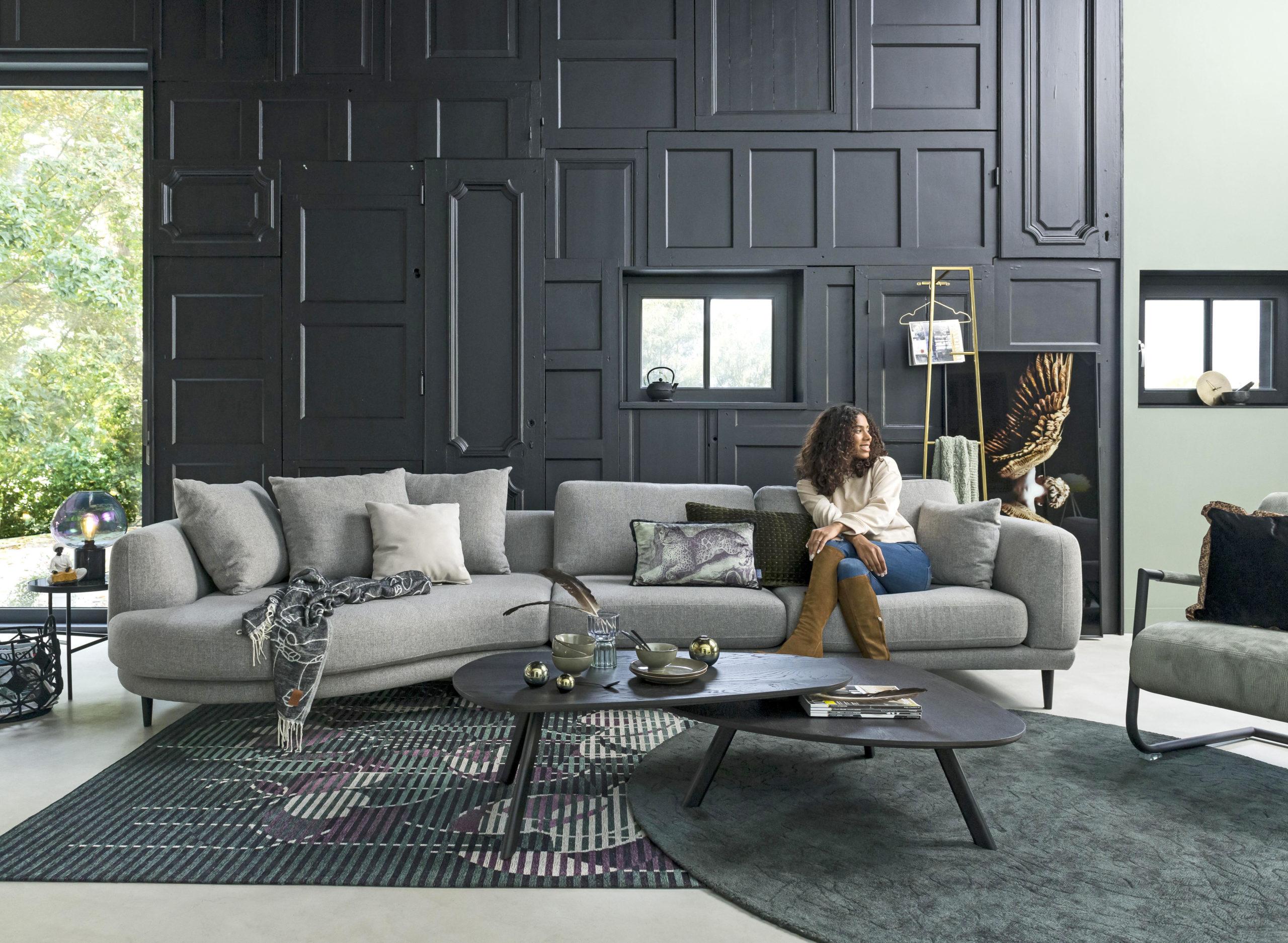 Sofa mit runden Formen
