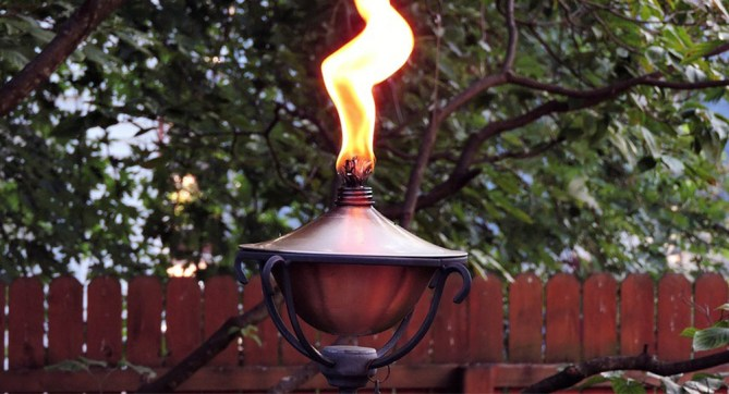 golden flame torch
