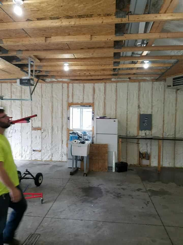 Garages Need Foam Insulation Too - work more comfortably in your garage