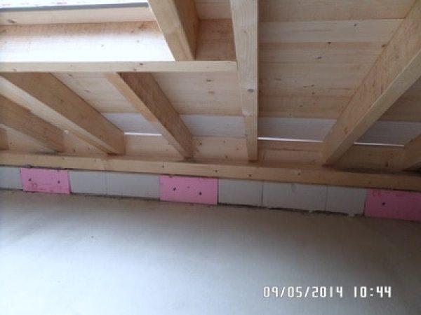 Kontrolle Waermedaemmung Dach zur vermeidung von Schimmelproblemen