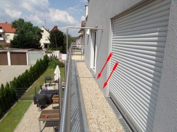 Abriß Putz & Abdichtung im Balkonbereich