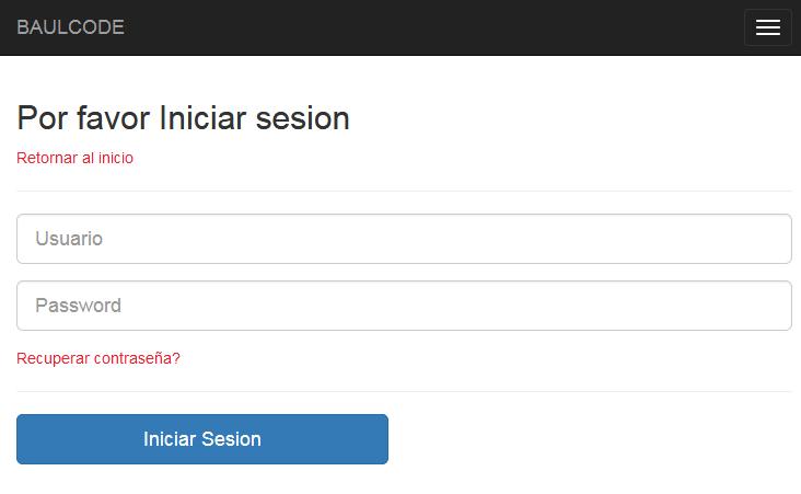 Iniciar sesion login PDO