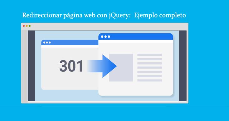 Redireccionar página web con jQuery