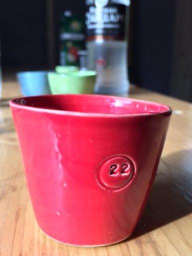 Schnapsglas mit Schnapszahl