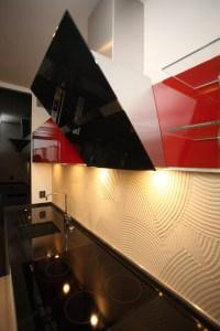 kuchnia-nowoczesna-czerwono-czarna-meble-na-wymiar-kraków
