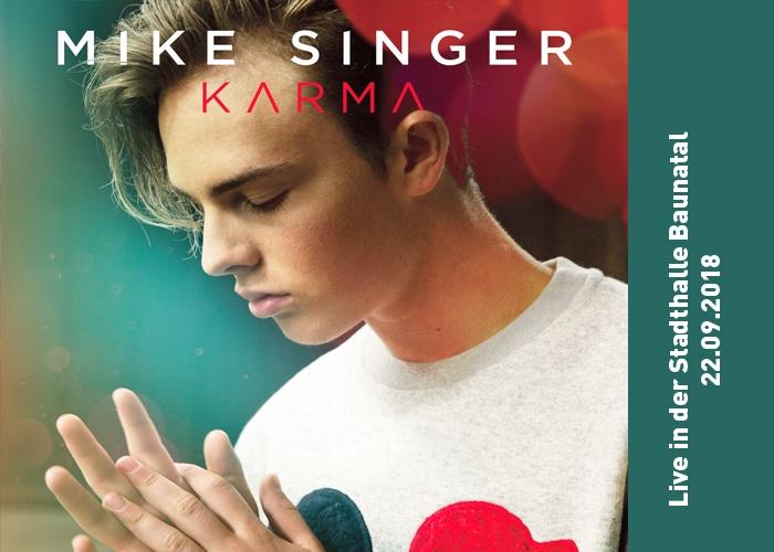 Youtube-Star Mike Singer am 22.09.2018 live in der Stadthalle Baunatal beim Herbstpalast