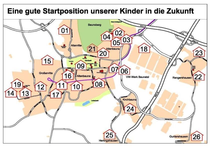 Bildungskette Baunatal, Kindergarten Baunatal, Kindergärten Baunatal, Kita Baunatal, BaunatalBlog, Nachrichten Baunatal