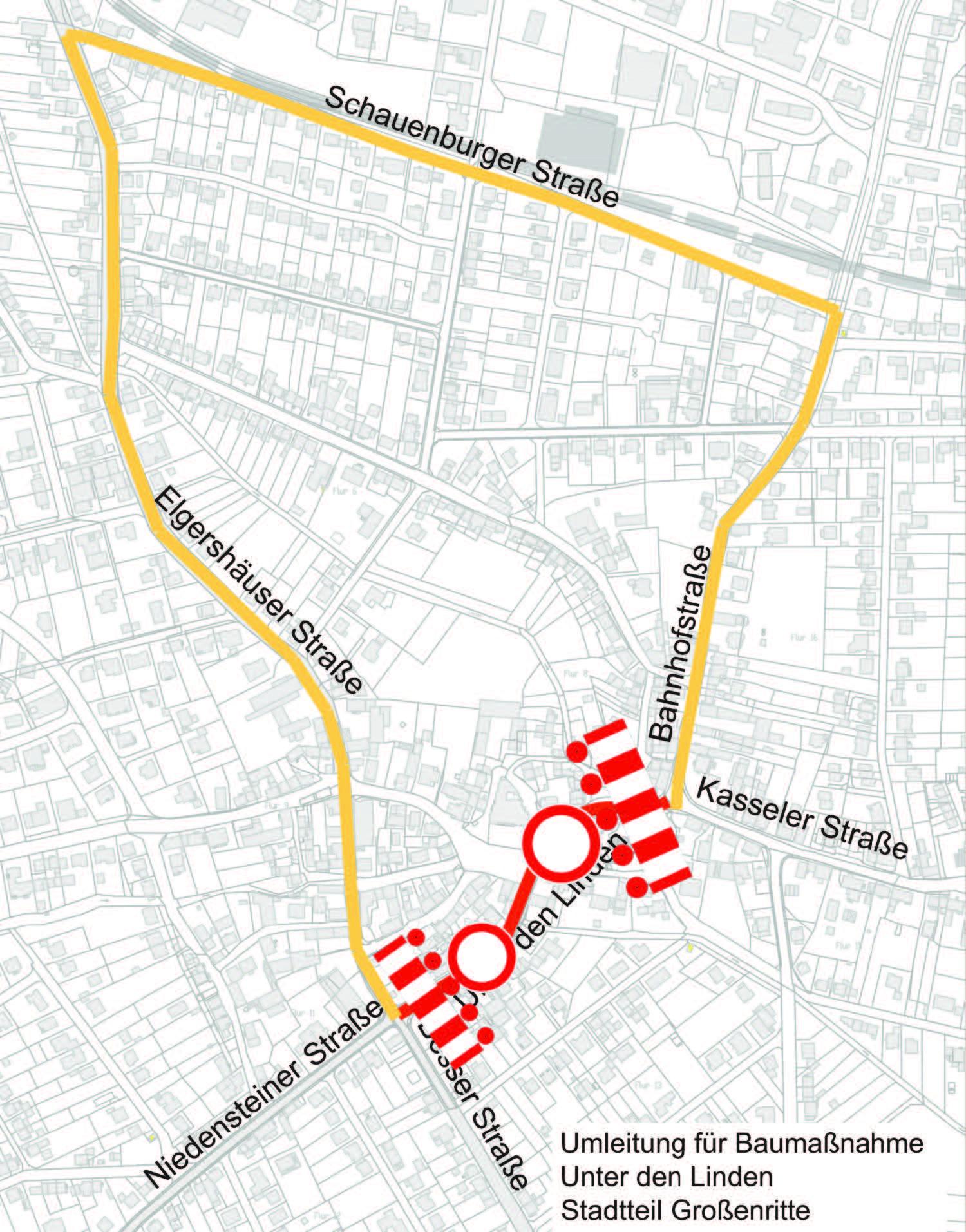 """Bürgerinformation in Großenritte für Baustelle""""Unter den Linden"""" am 1. März, 17.30 Uhr und Vollsperrung der Straße """"Unter den Linden"""" ab 7. März"""