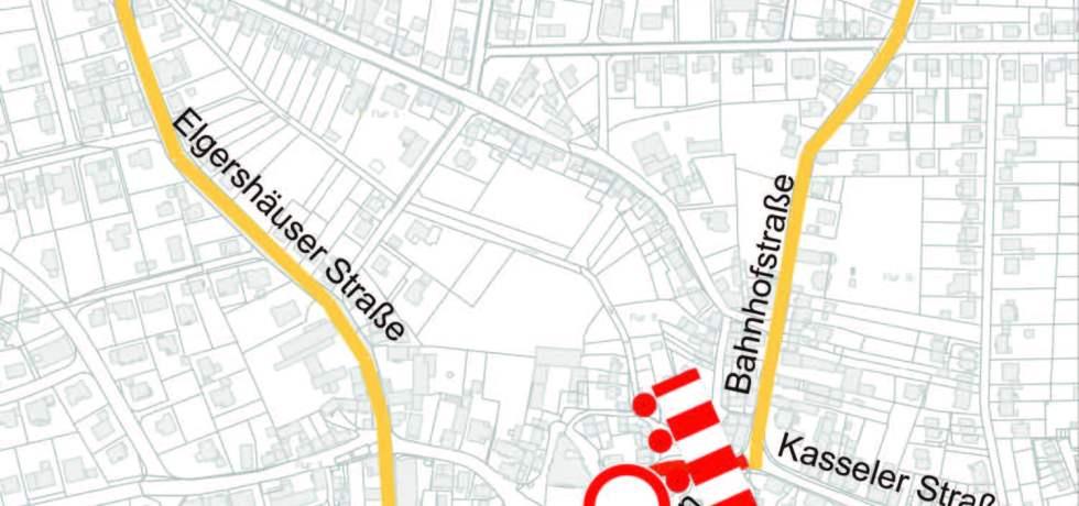 Baunatal, Baustelle Großenritte, Baustelle unter den Linden