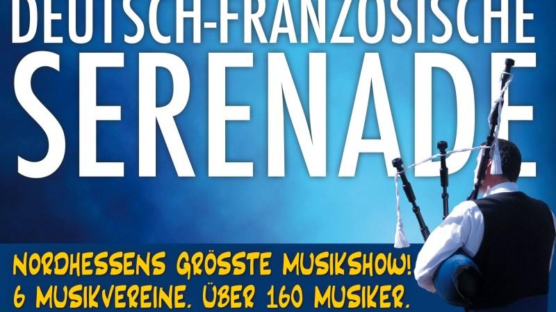 Nordhessens größte Musikshow am 12.Mai auf dem Marktplatz Baunatal! 6 Vereine. Über 160 Musiker.
