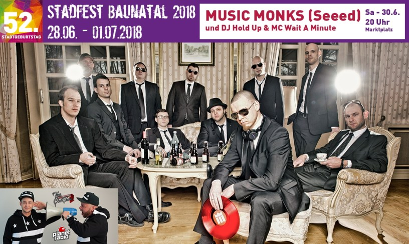 Stadtfest Baunatal, Music Monks, DJ Hold Up & MC Wait A Minute