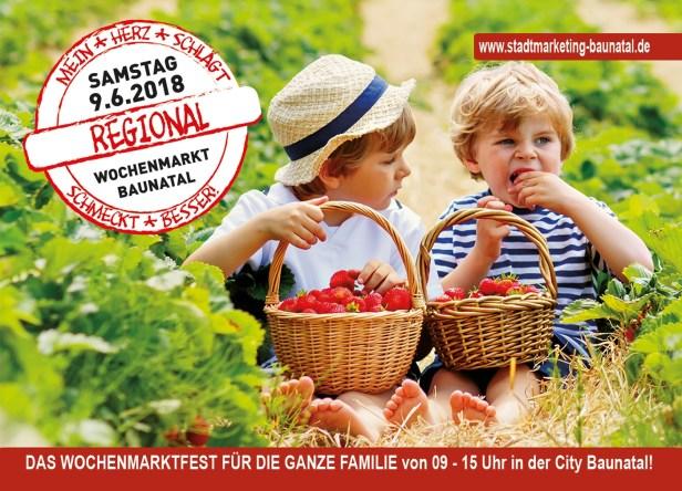 Regional schmeckt besser, Baunatal, Wochenmarkt Baunatal, Stadtmarketing Baunatal, Samstag 09.06.2018
