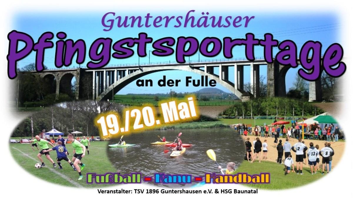Unser Tipp zu Pfingsten: Ab an die Fulle in Guntershausen zu den Pfingssporttagen!