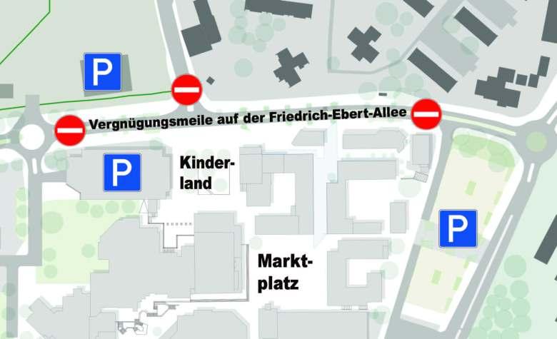 Stadtfest Baunatal, Straßensperrung 25.6.-2.7.2018