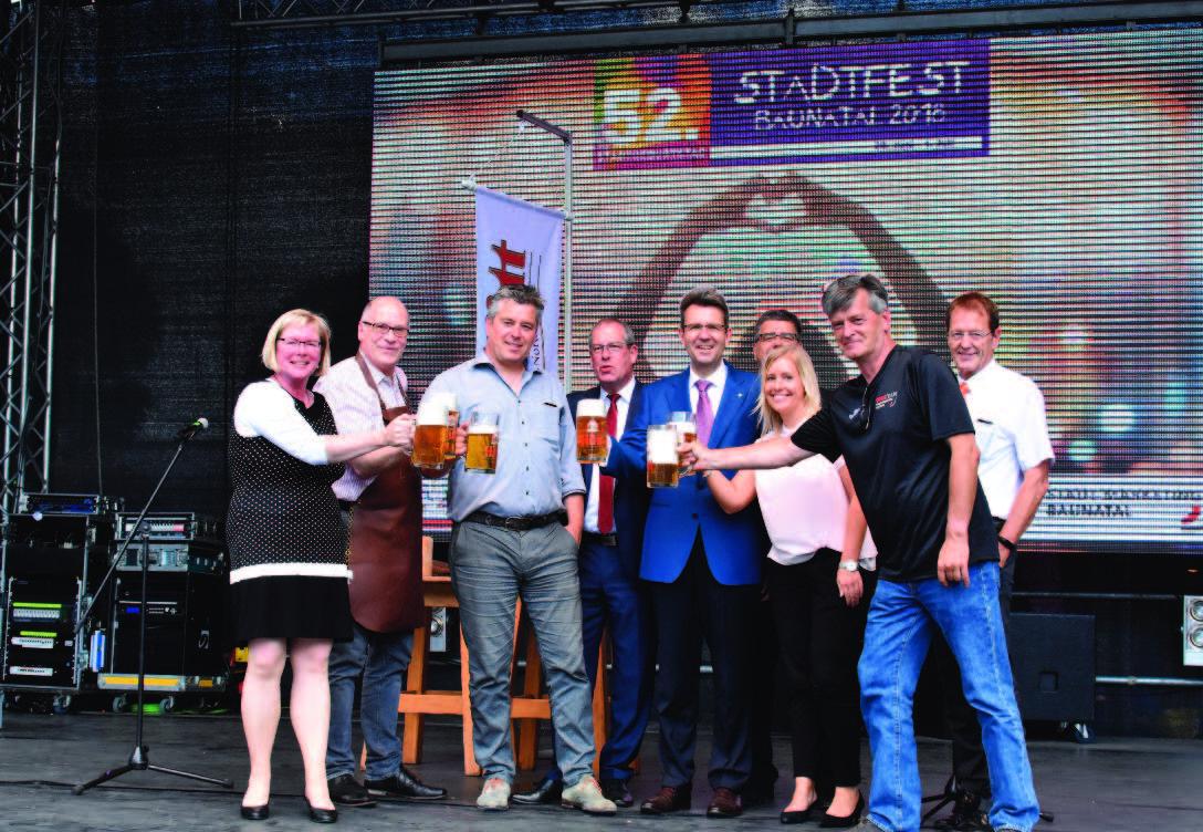 Stadtfest Baunatal, Silke Engler, Dirk Wuschko, Frank Bettenhäuser