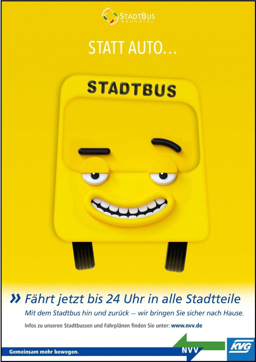 Statt Ausreden…..Stadtbus in Baunatal nutzen!