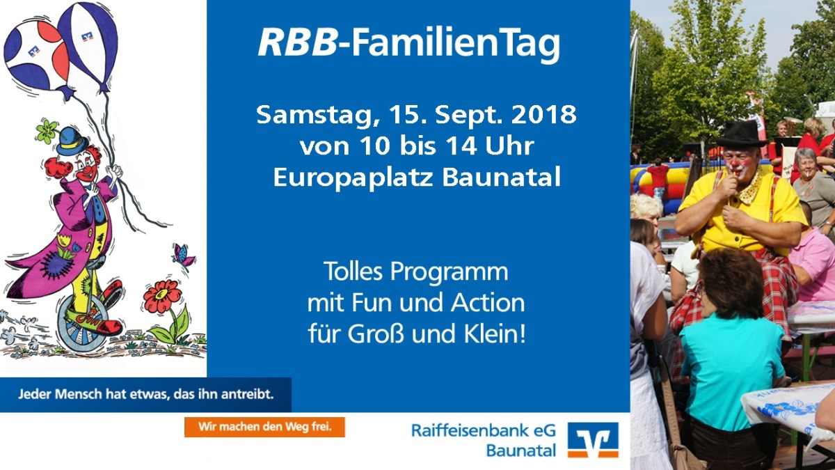 Diesen Samstag RBB-FamilienTag auf dem Europaplatz Baunatal
