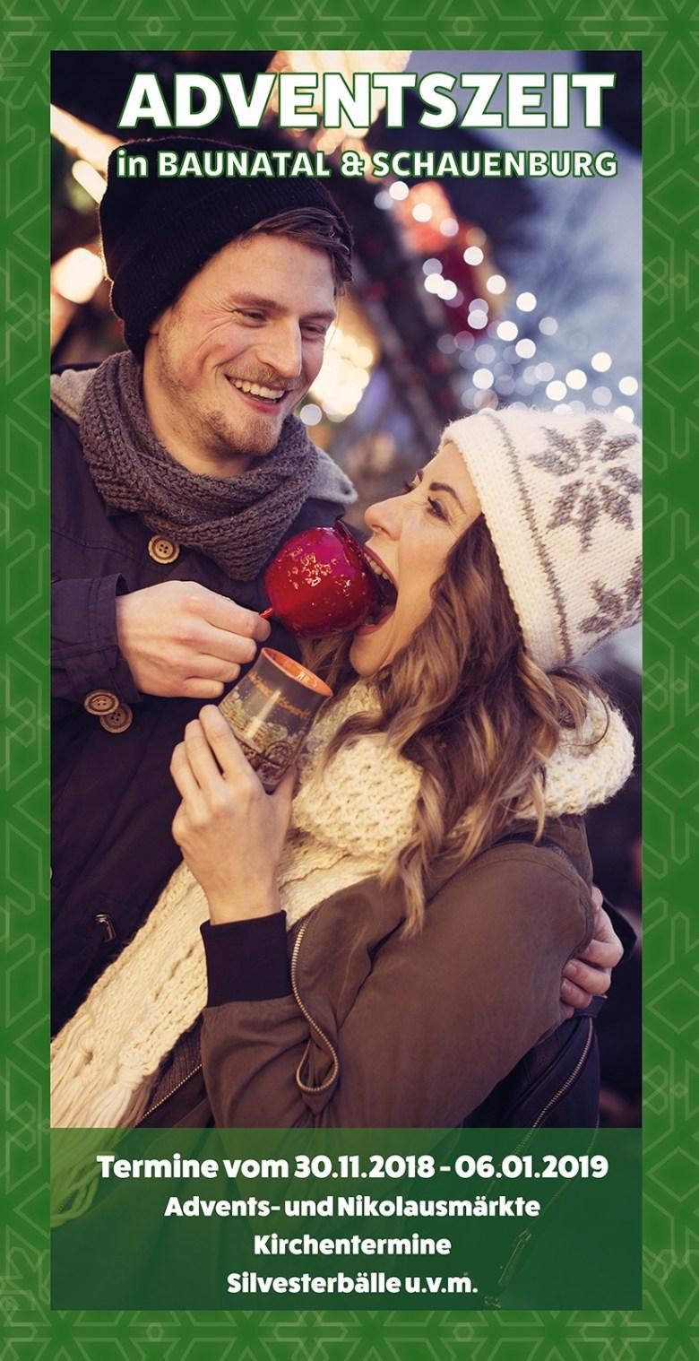 Adventsflyer 2018 Baunatal Schauenburg alle weihnachtstermine Weihnachten