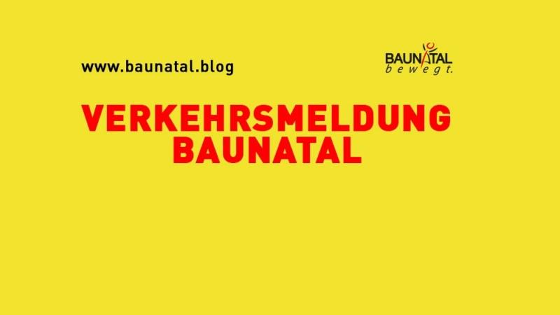 Verkehrsmeldung Baunatal – Ortsdurchfahrt Großenritte gesperrt – Kirchbaunaer Str. halbseitig