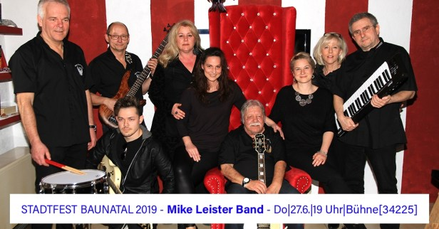 Stadtfest Baunatal, 2019, Mike Leister Band, Chor Voice Factory