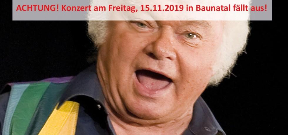 Fips Asmussen, Baunatal, Absage, 15.11.2019