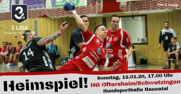 Sportstadt, Baunatal, Nordhessen, GSV Eintracht Baunatal, Hnadball, 3. Liga Handball, HG Oftersheim/Schwetzingen