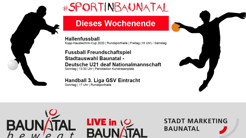 Fußball EM Baunatal, Hallenfußballturnier, 3. Liga Handball – die Sportstadt startet in das neue Jahr