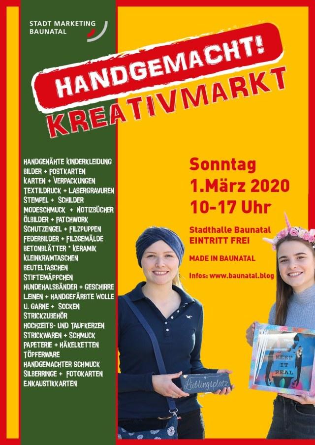Handgemacht!, Baunatal, Kreativmarkt , Made in Baunatal, StadtShop Baunatal, Stadthalle Baunatal, STadtmarketing Baunatal