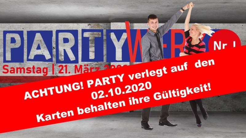 "EVENT ""PARTYWERK Nr.1"" wird in den Oktober verschoben"