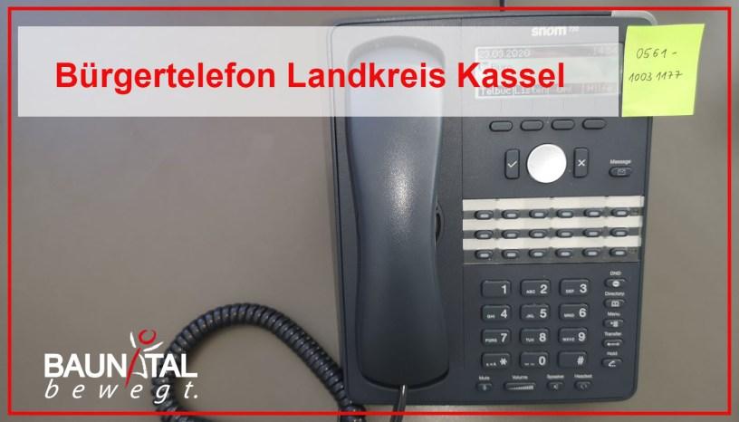 Landkreis Kassel, Bürgertelefon, Coronavirus, Baunatal.Blog