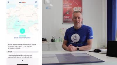 Teil 3 Erklärvideo mit Matthias Orf – heute die Apps Katwarn und Hessenwarn