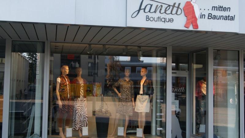 Boutique Janett in der City Baunatal weiter für Sie da