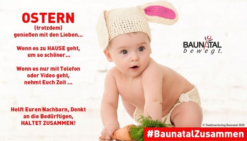 Baunatal, Baunatalzusammen, Ostern, 2020, Stadtmarketing Baunatal, #baunatalzusammen
