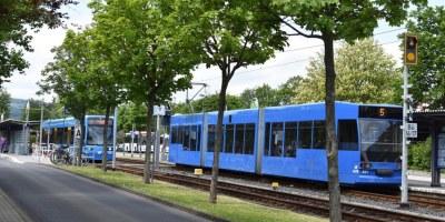 Straßenbahn, Baunatal, Kassel, Linie 5, NVV
