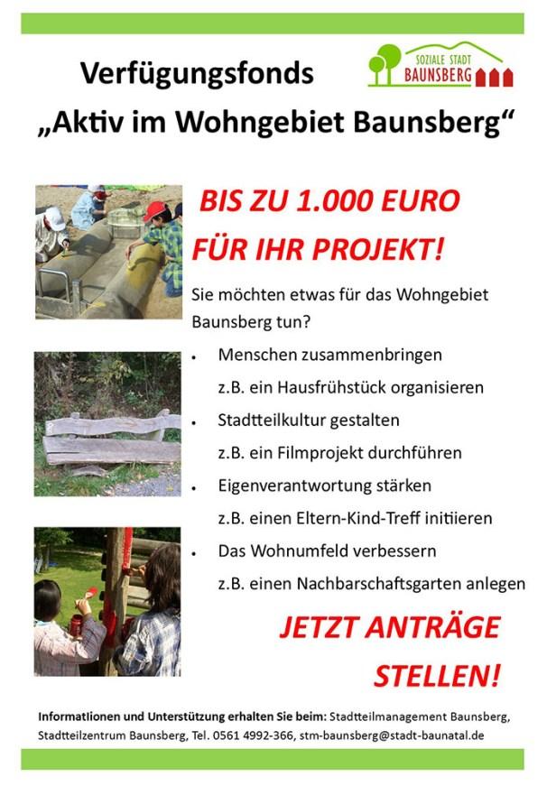 Baunatal, Baunsberg, Soziale Stadt, Verfügungsfonds
