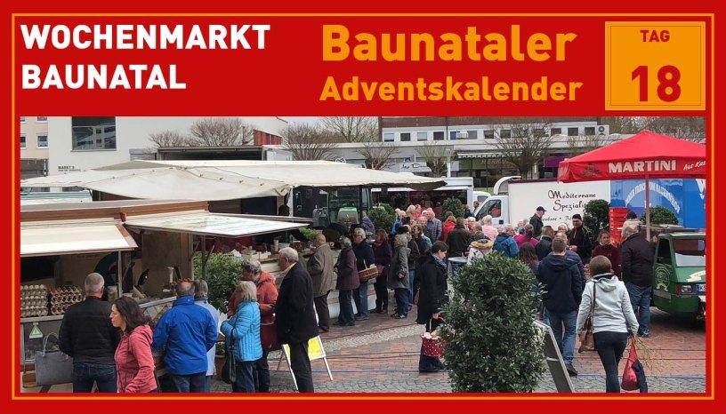 Wochenmarkt, Baunatal, Baunataler Adventskalender, Landkreis Kassel, Stadtmarketing, Wirtschaft