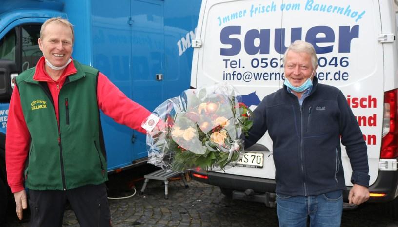 Wochenmarkt Baunatal, WErner Sauer, Stefan Ullrich, Stadtmarekting Baunatal, Marktplatz Bauantal