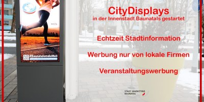Citywerbung, Citydisplays, Baunatal, Deutschland, Stadtmarketing