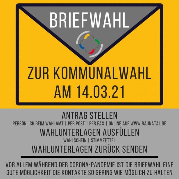 baunatal, Kommunalwahl, 2021, Briefwahl
