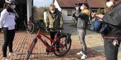 Baunatal, Dreharbeiten, Fahrrad