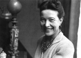 Simone de Beauvoir, escxritora, filósofa, 1