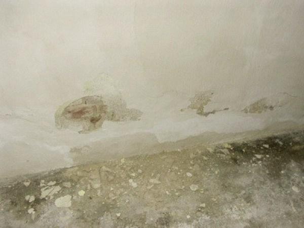 Feuchtigkeitseinfall von der Außenseite, nasse Wand