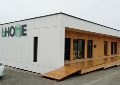 Fassade – Musterhaus Modulbau Cetris Platten
