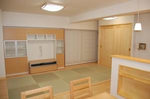 ナチュラルな内装に琉球畳 デザイナーズマンション 店舗 デザイン 設計 京都 内装工事