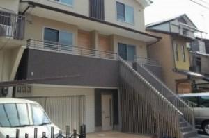 住宅内観1 工事は施工会社があり、設計監理業務 京都 中京区で新築 1階は店舗スペースまたは事務所として利用可能な内装
