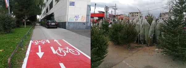 prepreke na biciklističkim površinama