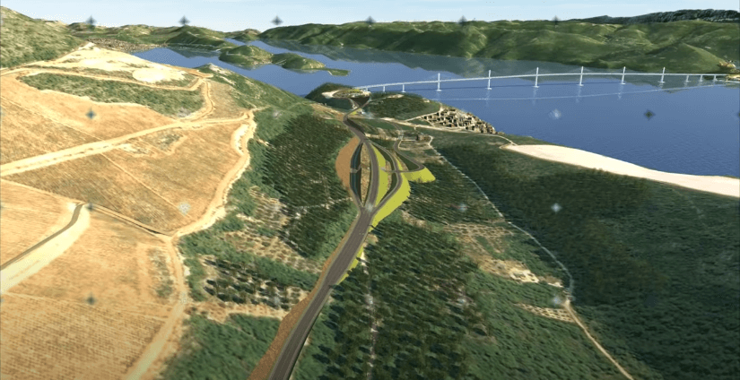 Pogledajte pristupne ceste i zahtjevne radove oko Pelješkog mosta koji su zasjenjeni